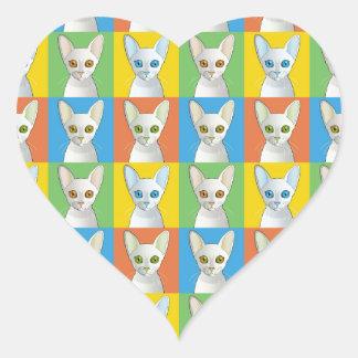Cornish Rex Pop-Art Cat Stickers