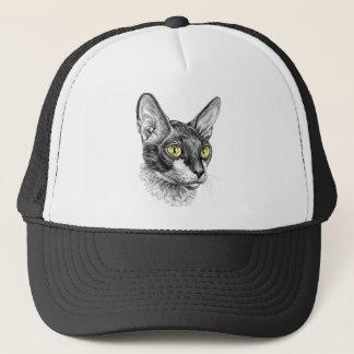 Cornish Rex Sketch Trucker Hat