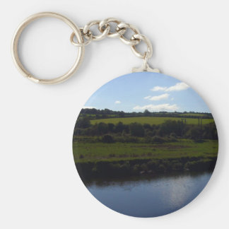Cornish River and Countryside Basic Round Button Keychain
