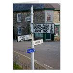 cornish signpost depicting Lands End Cards