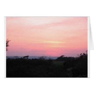 Cornish Sunset Greeting Card (5983)