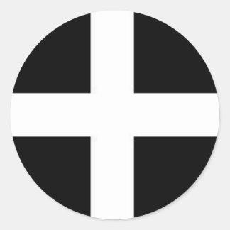 cornishslang cornwall kernow flag classic round sticker