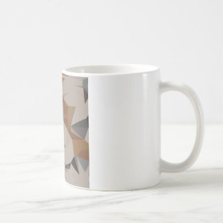 Cornsilk Brown Abstract Low Polygon Background Coffee Mug