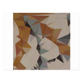 Cornsilk Brown Abstract Low Polygon Background Postcard