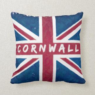 Cornualles - bandera británica de Union Jack Almohadas