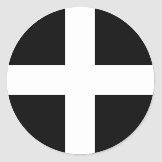Cornualles - bandera/St. Piran de Cornualles Pegatina Redonda