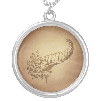 Cornucopia Abundance Roman Personalized Necklace