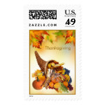Cornucopia and foliage Thanksgiving Postage