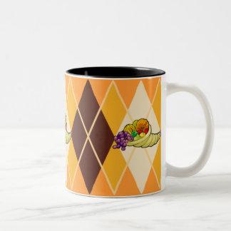 Cornucopia Argyle Coffee Mugs