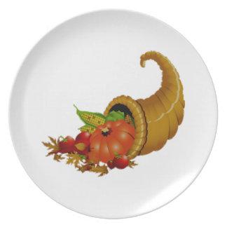 Cornucopia/cuerno de la abundancia plato para fiesta