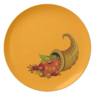 Cornucopia/cuerno del naranja de la abundancia platos