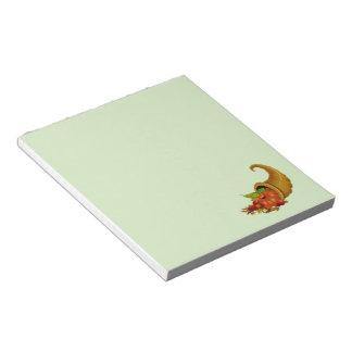 Cornucopia/cuerno del verde de la abundancia bloc de notas