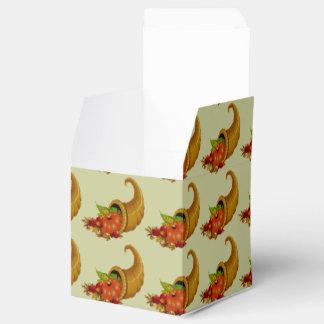 Cornucopia/cuerno del verde de la abundancia caja para regalos de fiestas