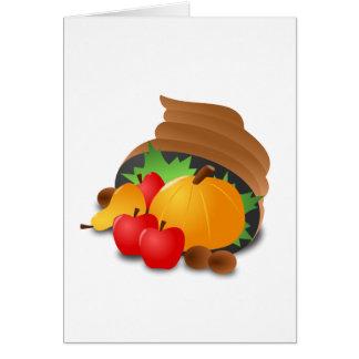 Cornucopia de la acción de gracias tarjeta de felicitación