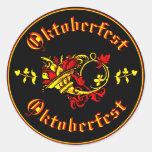 Cornucopia de Oktoberfest Etiqueta Redonda