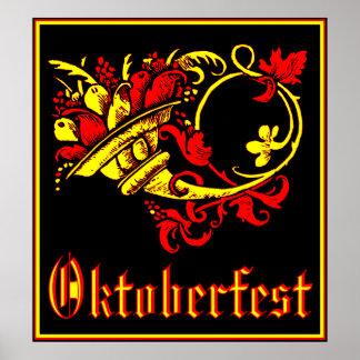 Cornucopia de Oktoberfest Póster