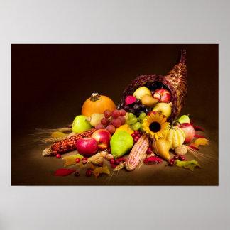 Cornucopia del otoño póster