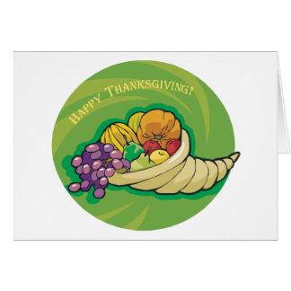 Cornucopia feliz de la acción de gracias tarjeta de felicitación