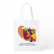Cornucopia Fruits and Vegetables Logo Reusable Grocery Bag