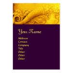CORNUCOPIA  MONOGRAM , bright gold yellow purple Business Card Template