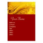 CORNUCOPIA  MONOGRAM , bright gold yellow ,red Business Cards