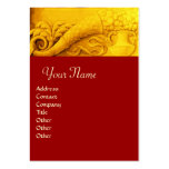 CORNUCOPIA  MONOGRAM , bright gold yellow ,red Large Business Cards (Pack Of 100)