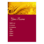 CORNUCOPIA  MONOGRAM ,bright gold yellow red Large Business Cards (Pack Of 100)