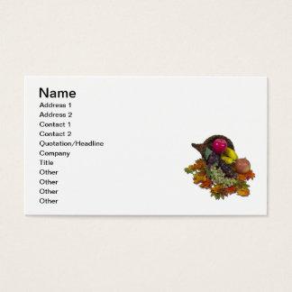 Cornucopia of abundant fruit business card