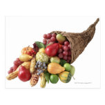 Cornucopia of fruit and vegetables postcard