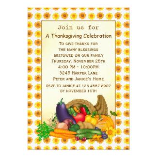 Cornucopia Thanksgiving party Invitation