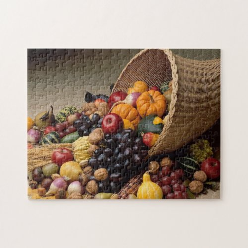 Cornucopia Thanksgiving Puzzle - 110 Pieces