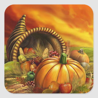 Cornucopia Thanksgiving Stickers