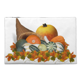 Cornucopia with Fall Gourds Travel Accessories Bags