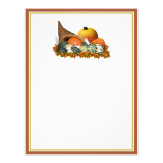 Cornucopia with Fall Gourds Flyer