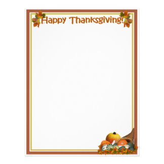 Cornucopia with Fall Gourds Letterhead