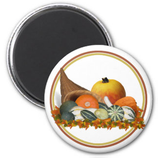 Cornucopia with Fall Gourds Magnet