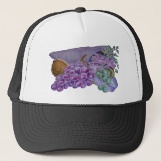 Cornucopia With Fruit And Flowers - Horn Of Plenty Trucker Hat
