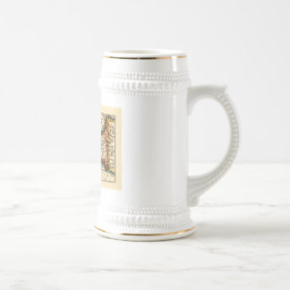 """Cornwaile"" Cornwall County Map, England Beer Stein"