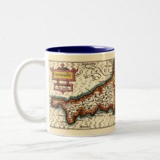 """Cornwaile"" Cornwall County Map, England Two-Tone Coffee Mug"