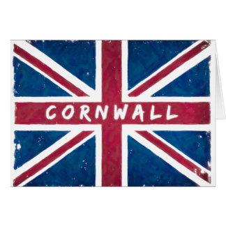 Cornwall - British Union Jack Flag Card