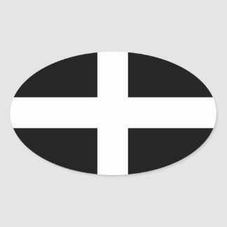 Cornwall - Cornish Flag / St. Piran's Oval Sticker
