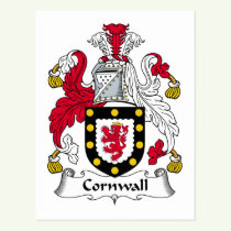 Cornwall Family Crest Postcard