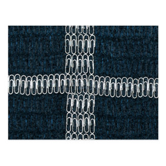 Cornwall Flag of Paperclips Postcard