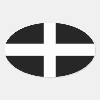 Cornwall Flag Oval Sticker