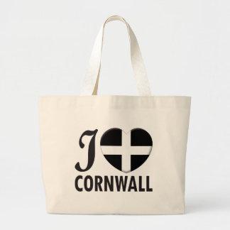 Cornwall Love Tote Bags
