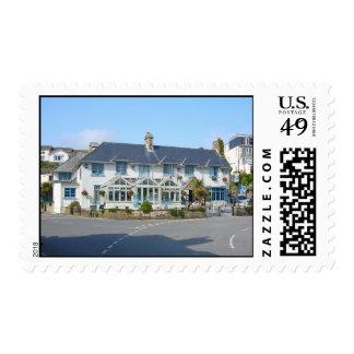 Cornwall, St Mawes Pub Postage Stamp