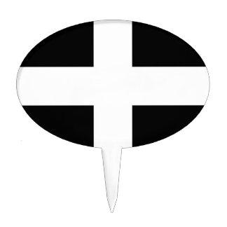Cornwall (St Piran's Flag) Cake Topper