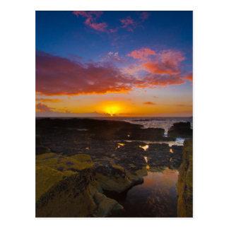 Cornwall Suntset Postcard