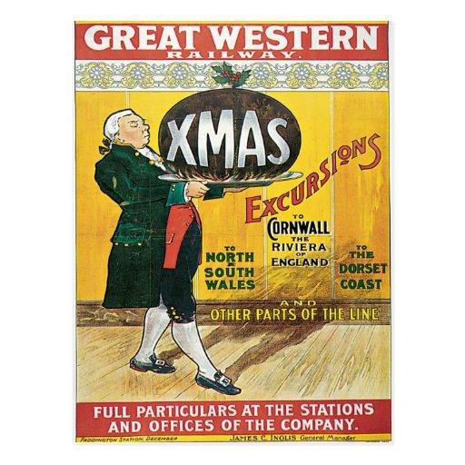Cornwall UK Great Western Railway Vintage Postcard