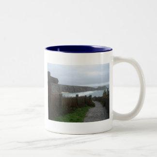 Cornwall view Two-Tone coffee mug